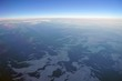 Aerial view of the Bering Strait on the western edge of Alaska near Nome facing Russia