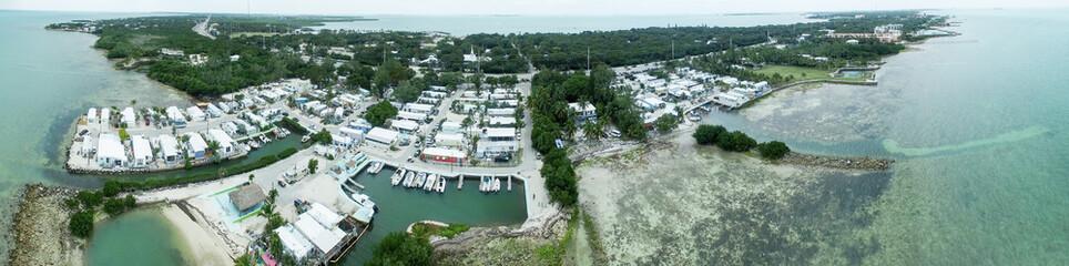 Islamorada coastline, aerial view