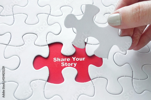 Share Your Story on jigsaw puzzle Poster