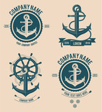 Anchor Logos / boat / Ship / sea logos