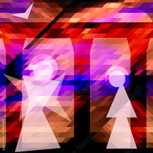 Obraz Annunciation. Abstract illustration of the Annunciation to the Blessed Virgin Mary