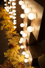 glowing love letter. wedding decorations