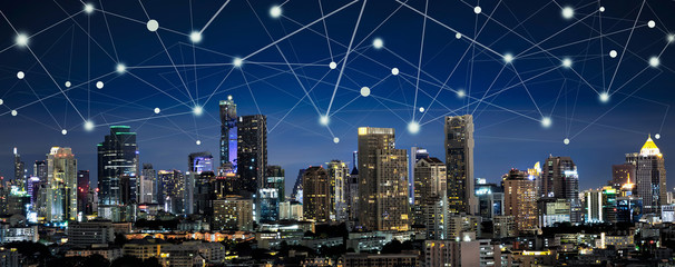 Smart city and internet of things, wireless communication networ