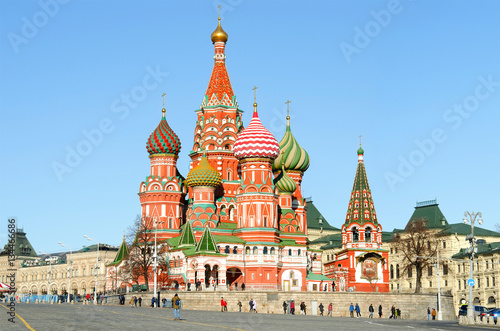 Papiers peints Moscou Moscow,Russia,Red square,view of St. Basil's Cathedral