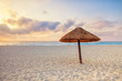 Sunrise at a Cancun Beach in the Caribbean, Mexico