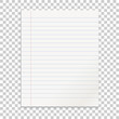 Realistic line paper note on isolated background