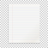 Realistic line paper note on isolated background - 134497802