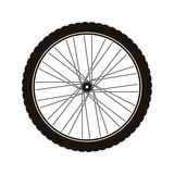 Bike wheel tire icon vector illustration graphic