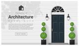 Elements of architecture , front door background , vector ,illustration - 134509011
