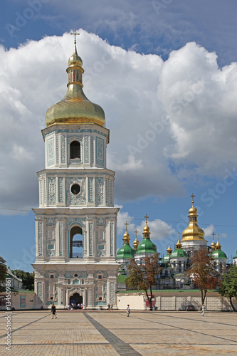 Poster Ukraine. Kiev. View at bell tower of Saint Sophia Cathedral
