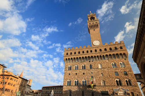 Zdjęcia Old Palace ( Palazzo Vecchio ) the town hall in Florence, Tuscany, Italy