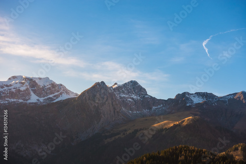 Mountain landscape in a sunny day Poster
