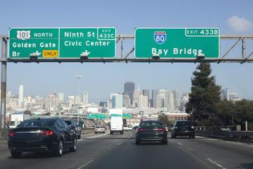 US 101 entering San Francisco