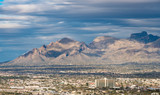 Downtown Tucson in Arizona with Santa Catalina mountains