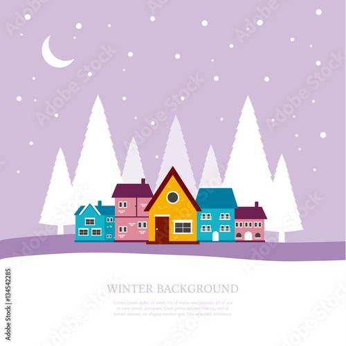 Fotobehang Purper Winter background