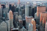 high angle view of New York skyscrapers