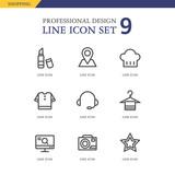 Shopping Line Icon Set - 134559883
