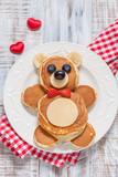 Bear pancakes for kids breakfast