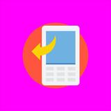 smartphone icon flat disign