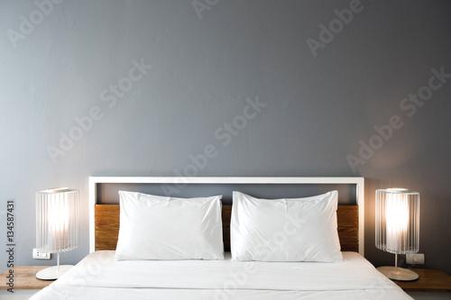 Plagát Modern bedroom design, Double bed
