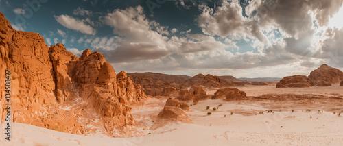 Keuken foto achterwand Panoramafoto s Panorama Sand desert Sinai, Egypt, Africa