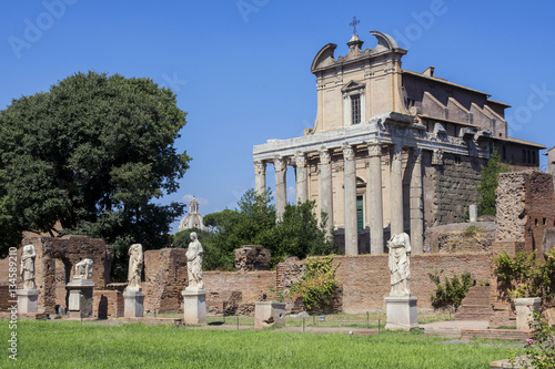 Poster House of the Vestal in Roman Forum