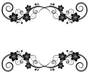 Orchids wall tattoo black