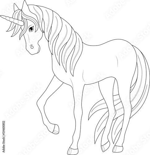cute fairy unicorn, coloring page   Buy Photos   AP Images ...