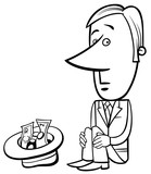businessman beggar illustration