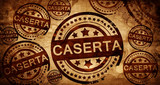 caserta, vintage stamp on paper background