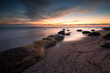 Tranquility of dawn / Magnificent sunrise view at the Black sea coast, Bulgaria