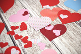 Colorful paper hearts - 134695432
