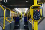 New modern cabin of city transport - 134698608