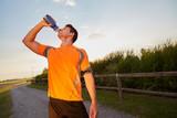 Runner man drink water