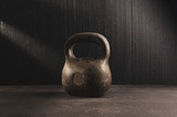 Kettlebell.  Workout for better body and health.