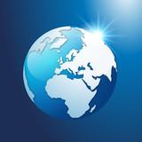 Terre - Globe - monde - planète - écologie - Bleu