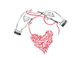 Руки вяжут из ниток сердце - 134715659