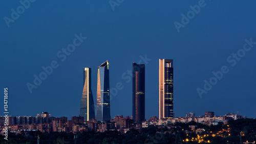 Papiers peints Madrid Madrid skyline