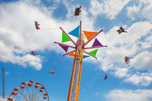 Poster Rides at a county fair.