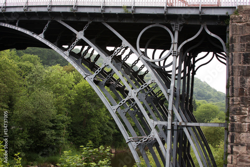 The ironbridge in the village of ironbridge, telford, shropshire, UK Poster