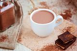 Hot chocolate selective focus