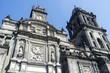 Facade of the Metropolitan Cathedral in Mexico City - Mexico (North America)