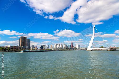 Poster Rotterdam Erasmus bridge in Rotterdam