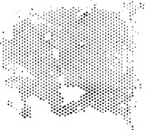 Dissipating degenerating halftone pattern texture. Vector texture grunge overlay.