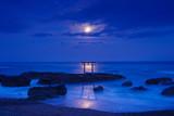 月夜の磯前神社鳥居
