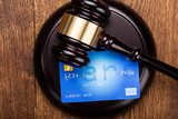 Credit Card On Wooden Gavel - 134803680