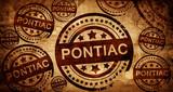 pontiac, vintage stamp on paper background