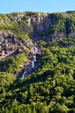 Fototapeta Nature - Fot. Konrad Filip Komarnicki / EAST NEWS Norwegia 20.07.2016 Wodospad w regionie Stavanger w Norwegii latem. © Konrad