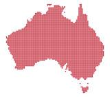 Australia Dot Map