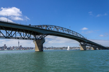 View to the Harbour Bridge from Northcote Point Auckland